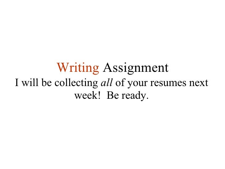 Business letter writing assignment