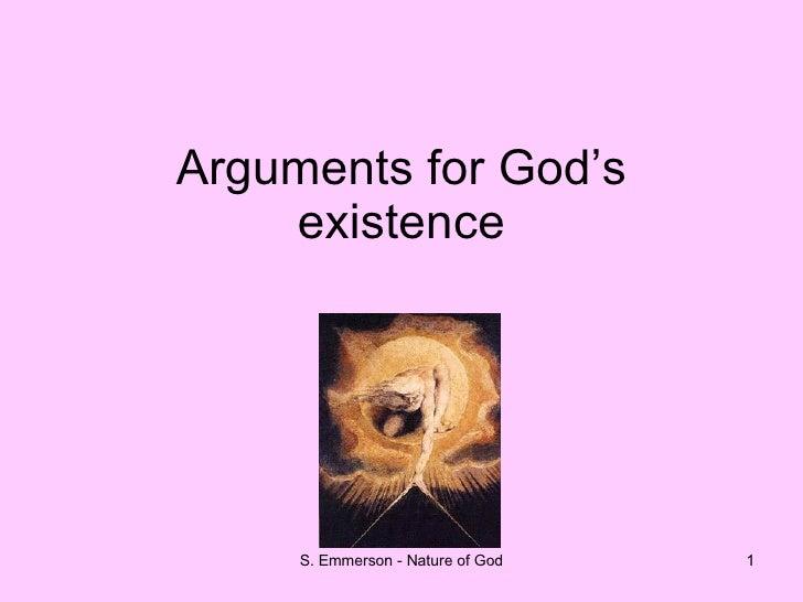 Lesson 2 Arguments For Gods Existence
