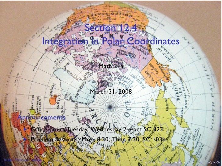 Lesson 20: Integration in Polar Coordinates