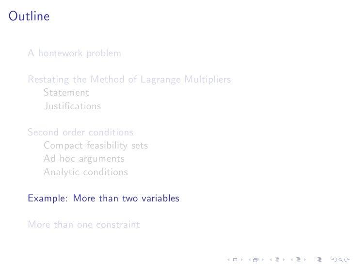 Lesson 28 lagrange multipliers ii