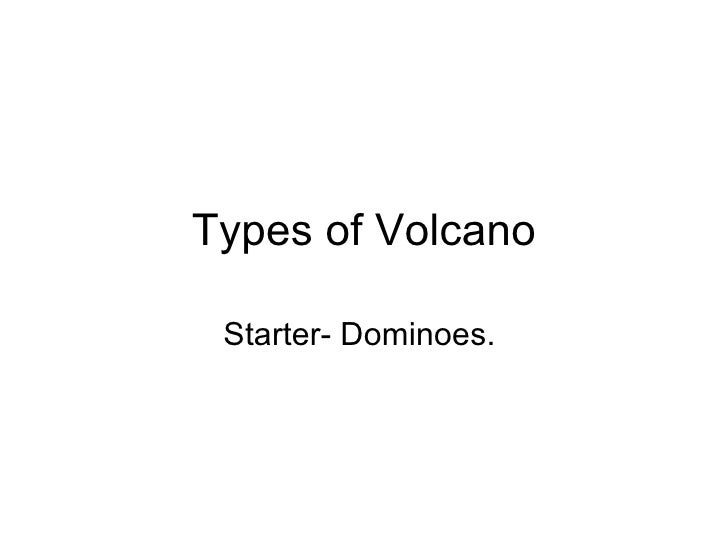 Lesson 3 Types Of Volcanoes