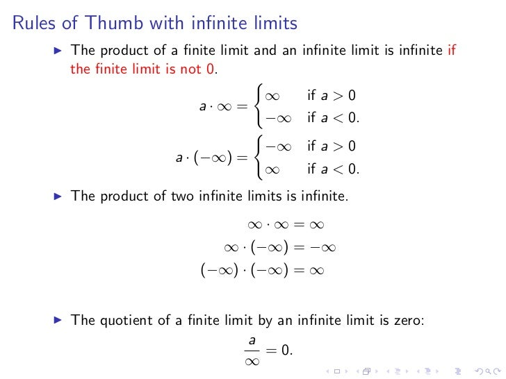 Lesson 4 Limits Involving Infinity