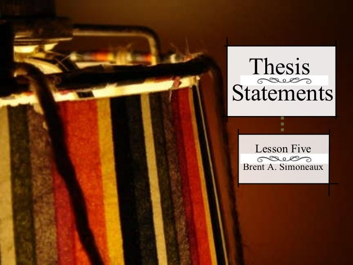 thesis lessons