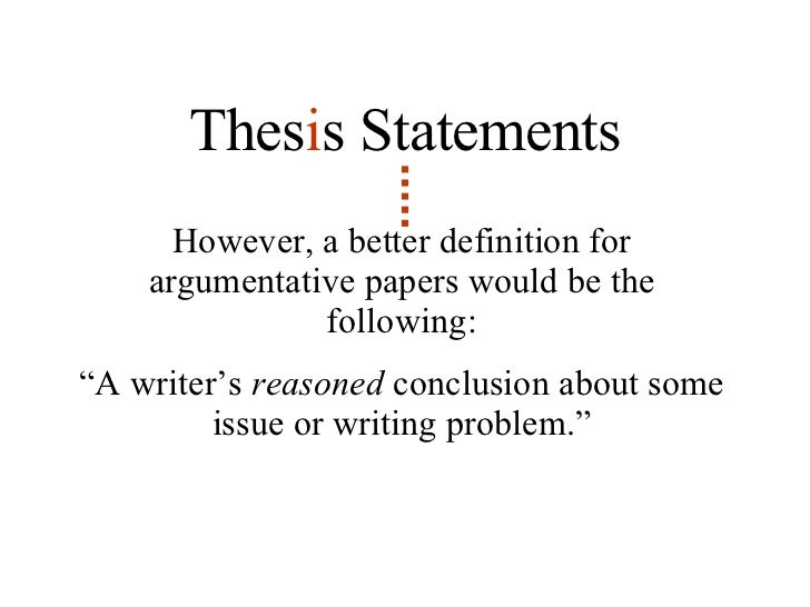 research paper thesis statement lesson plan