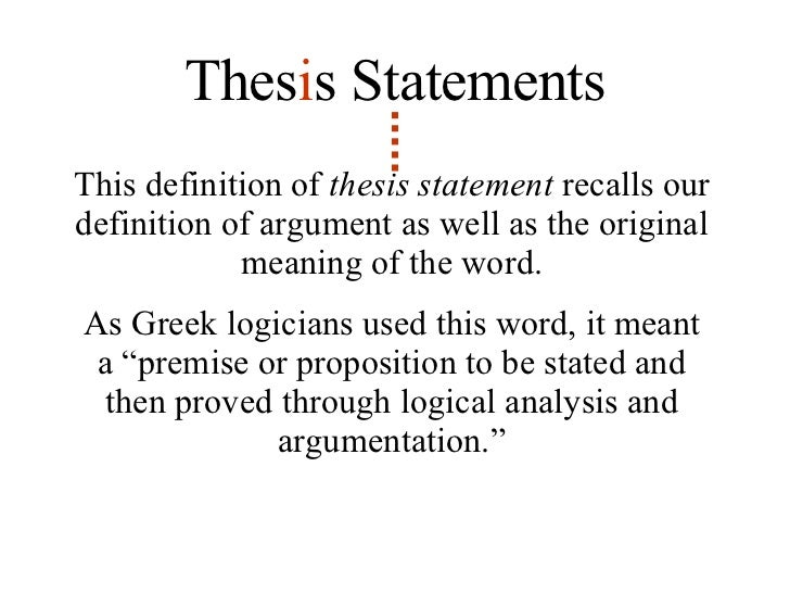 Q. What is a thesis statement? I need some examples, too.