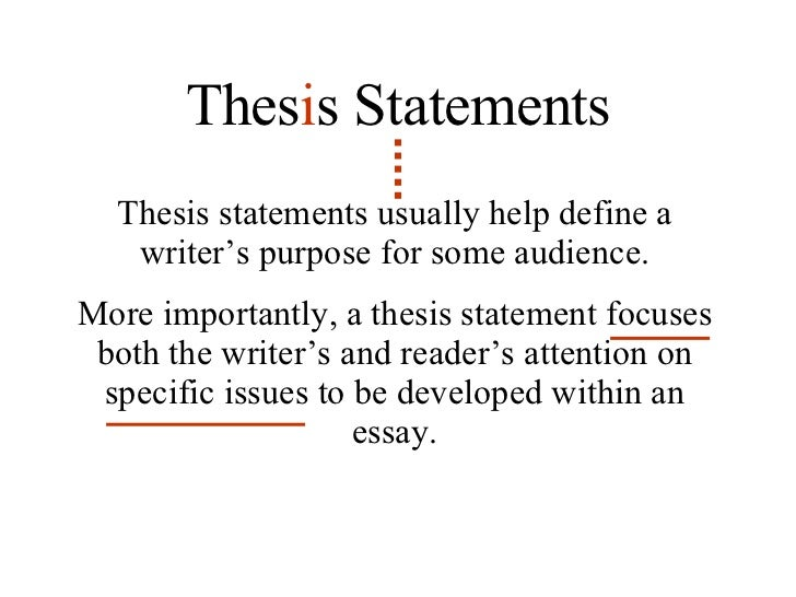 A Good Thesis Statement Begins With In This Essay I Will