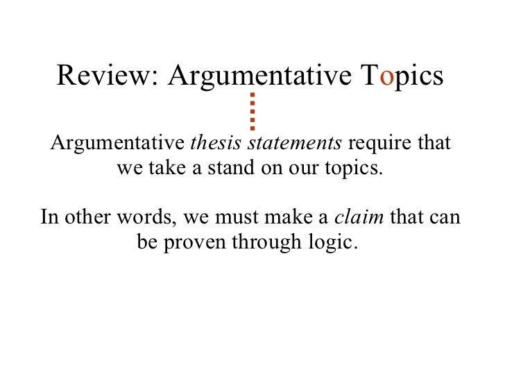 Argumentative statements