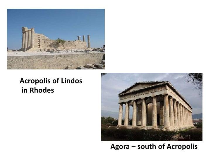Acropolis of Lindosin Rhodes                      Agora – south of Acropolis
