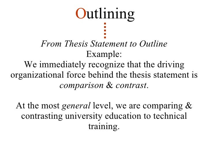 Thesis statement and informal outline
