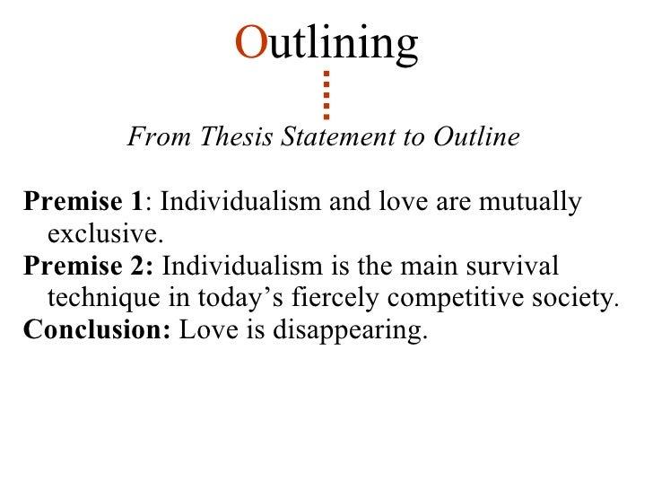 informal logic outline