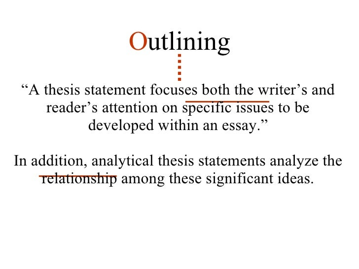 qualifying thesis statements