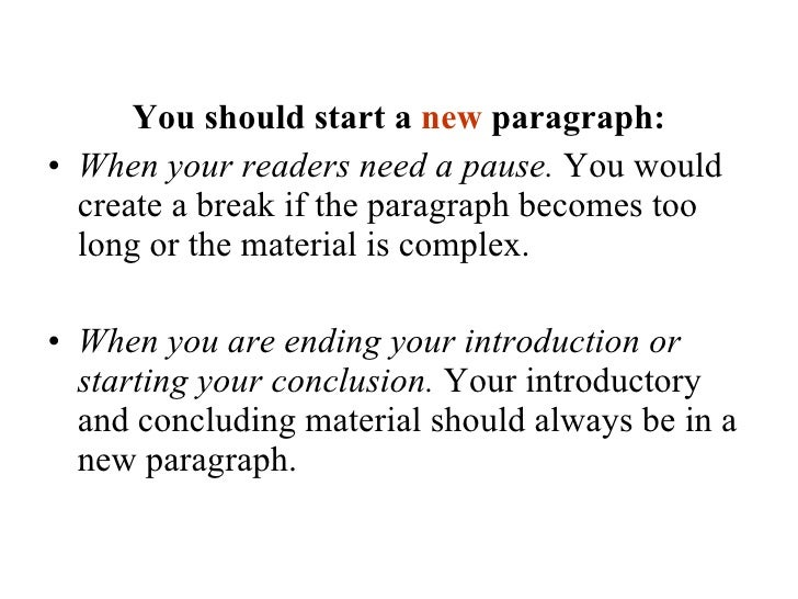 How do you start a body paragraph?