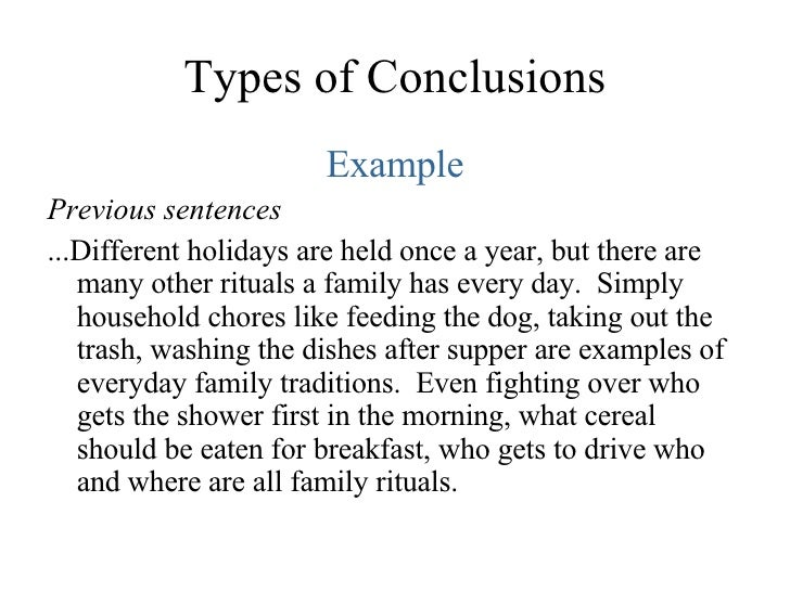 Write my different types of conclusions for essays