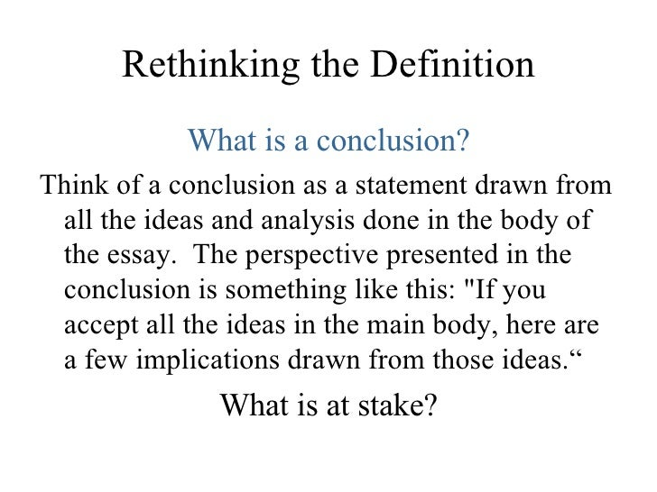 What Is Conclusion In Essay