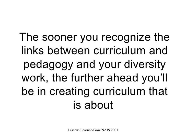 Lesson Learned from a Curriculum Change Process