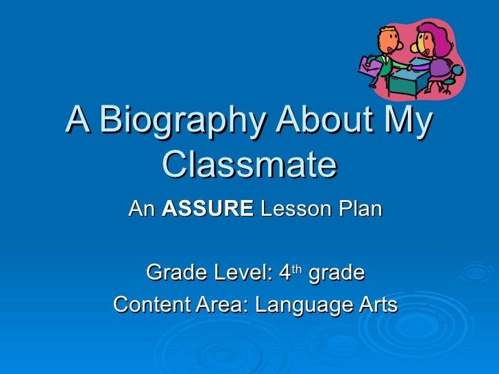Biography Lesson Plan