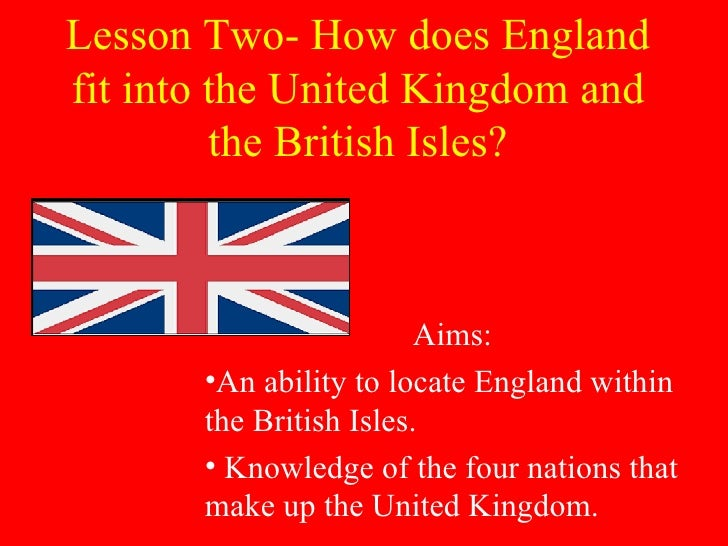 Lesson Two  How Does England Fit Into