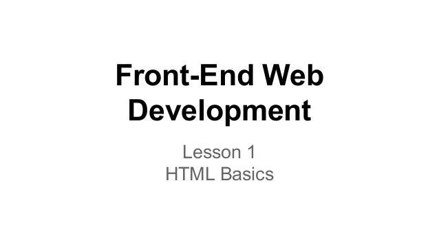 Front-End Web Development Lesson 1 HTML Basics