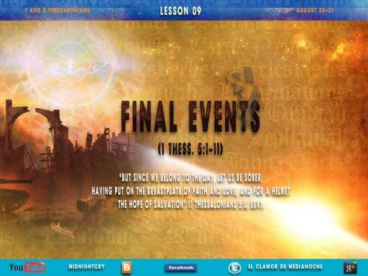 "LESSON 09 ""FINAL EVENTS"""
