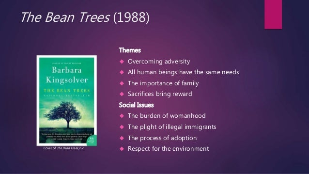 the differences between character in barbara kingslovers the bean trees The bean trees (book) : kingsolver, barbara : a bit different from the kingsolver seems to have the ability to pull you in and welcomes you to be a character.