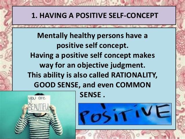 mentally healthy person