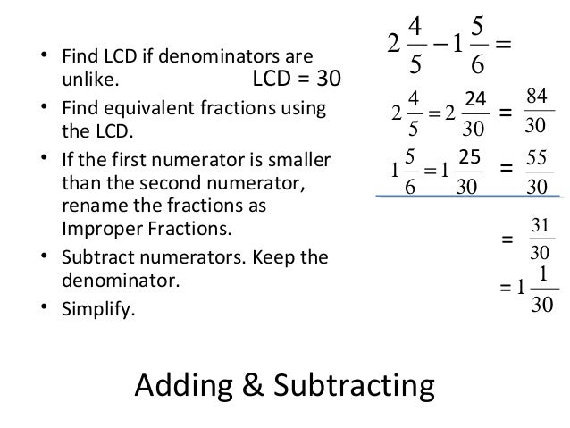Lesson 1   operations with fractions part 2 (notes)