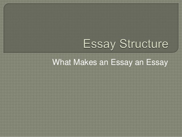 Lesson 1 - Essay Structure