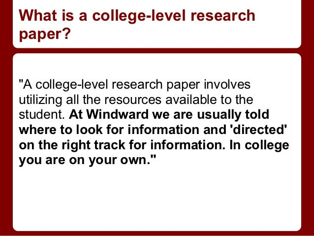 college research paper resources