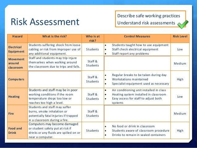 risk assessment template work pinterest assessment. stage ...