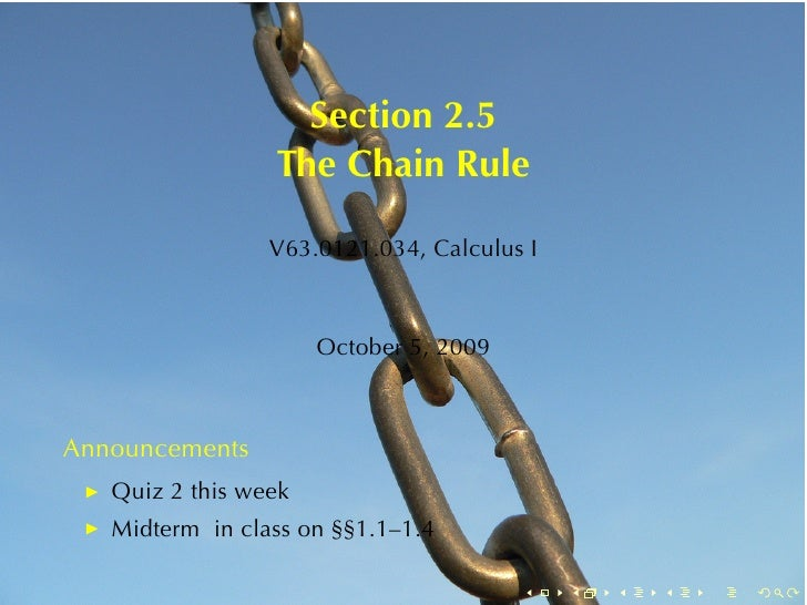 Section2.5                  TheChainRule                   V63.0121.034, CalculusI                          October5,...