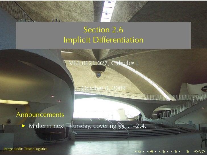 Lesson 11: Implicit Differentiation