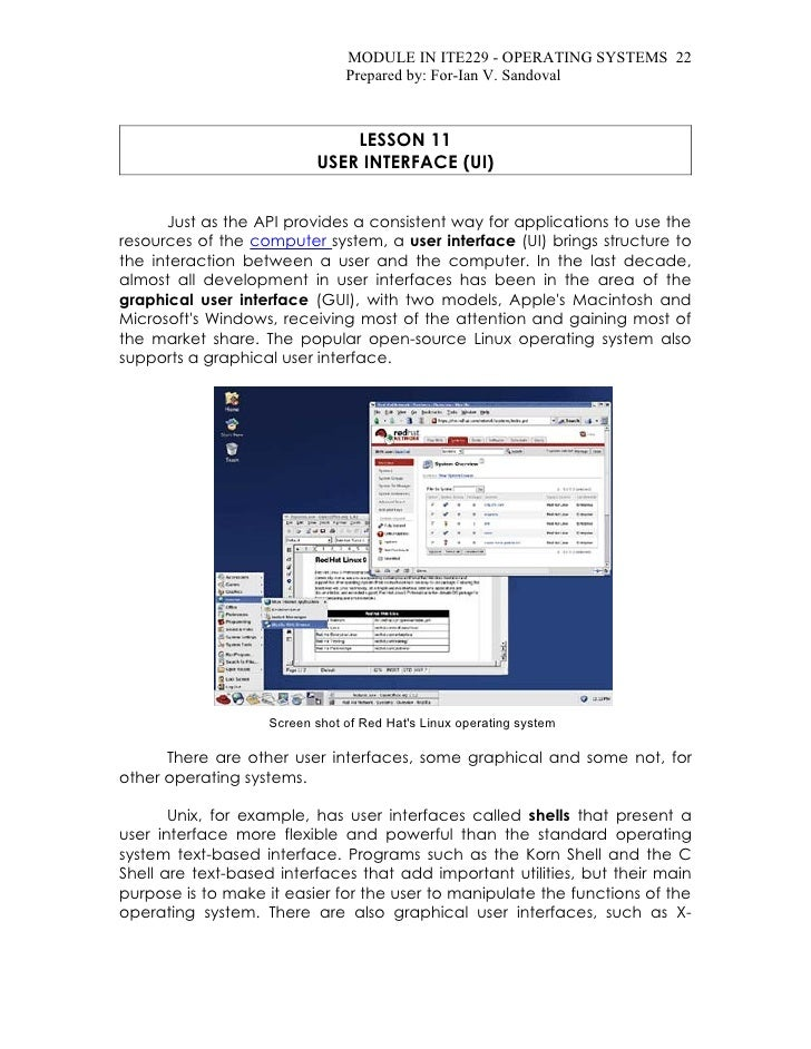 MODULE IN ITE229 - OPERATING SYSTEMS 22                                Prepared by: For-Ian V. Sandoval                   ...