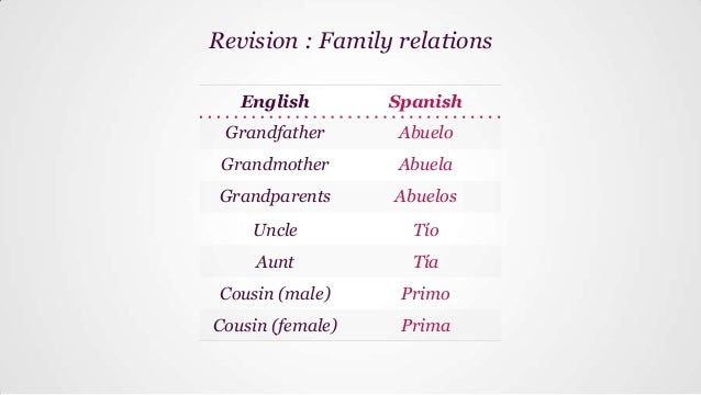 Spanish Essays About Family