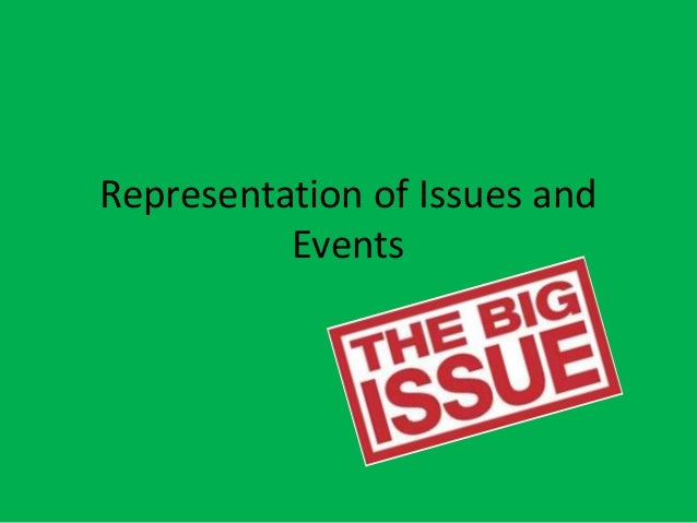 Representation of Issues and Events