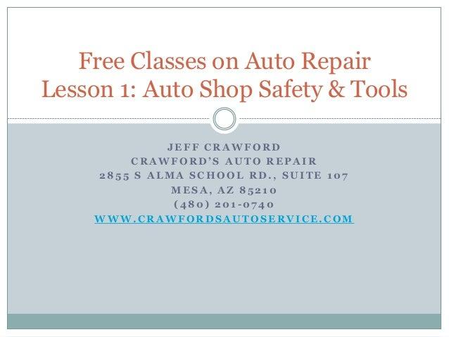 Automotive Shop Safety Essay