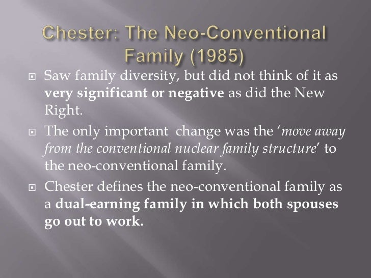 Neo-Conventional Family – ReviseSociology