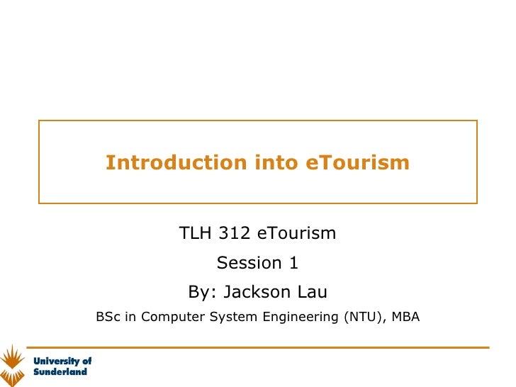 Lesson 1 Etourism Introduction