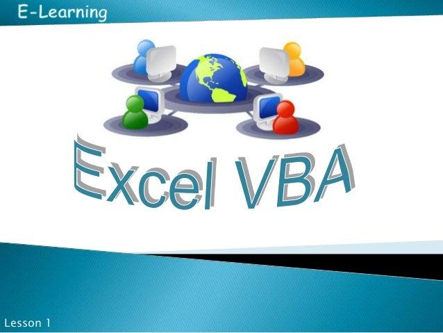 Excel VBA - Lesson 1 - Basics