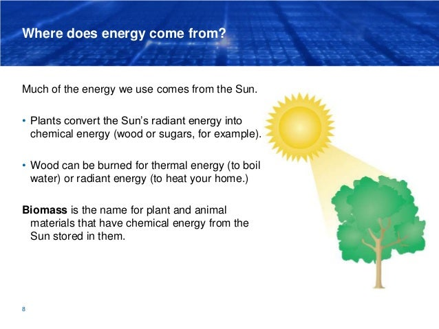 where does energy come from much of the energy we