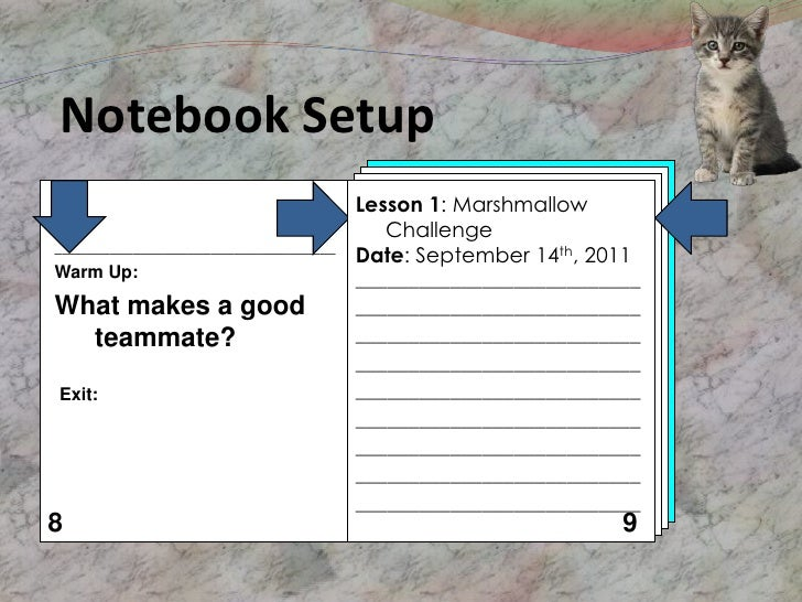 Notebook Setup                                       Lesson 1: Marshmallow                                          Challe...