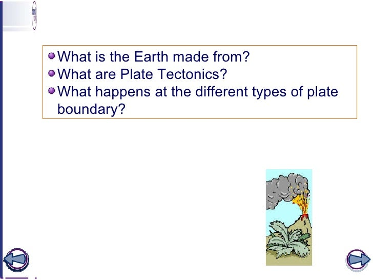 Learning objectives <ul><li>What is the Earth made from? </li></ul><ul><li>What are Plate Tectonics? </li></ul><ul><li>Wha...