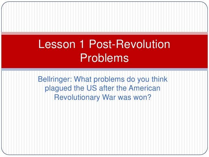 Lesson 1 Post War Problems
