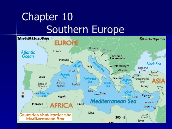 <ul><li>Can you name countries that lie on the Mediterranean Sea </li></ul>Chapter 10  Southern Europe