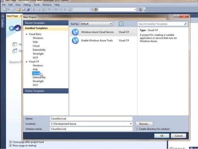 Cloud Computing -Windows Azure Creating Web Application in cloud