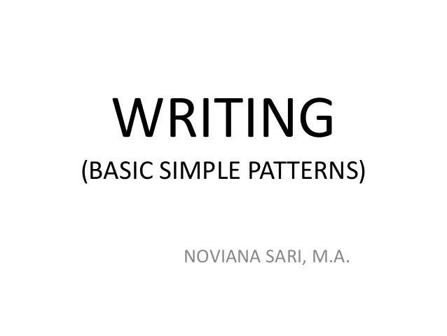 WRITING (BASIC SIMPLE PATTERNS) NOVIANA SARI, M.A.