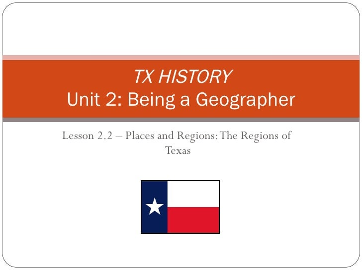 Lesson 2.2 the regions of texas v2003