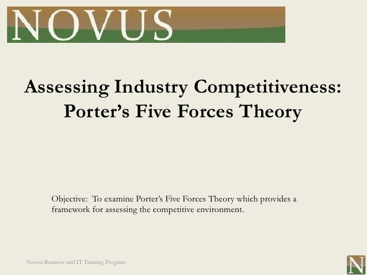 Assessing Industry Competitiveness:    Porter's Five Forces Theory         Objective: To examine Porter's Five Forces Theo...