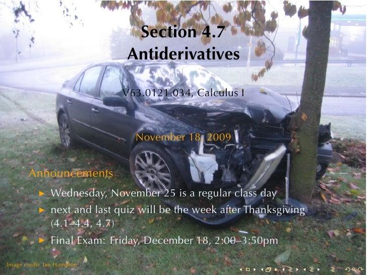 Lesson 23: Antiderivatives