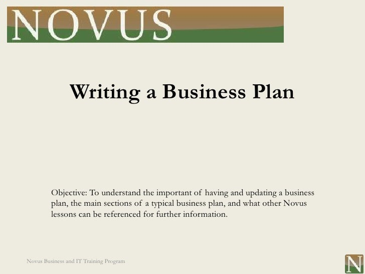 Writing business plan program