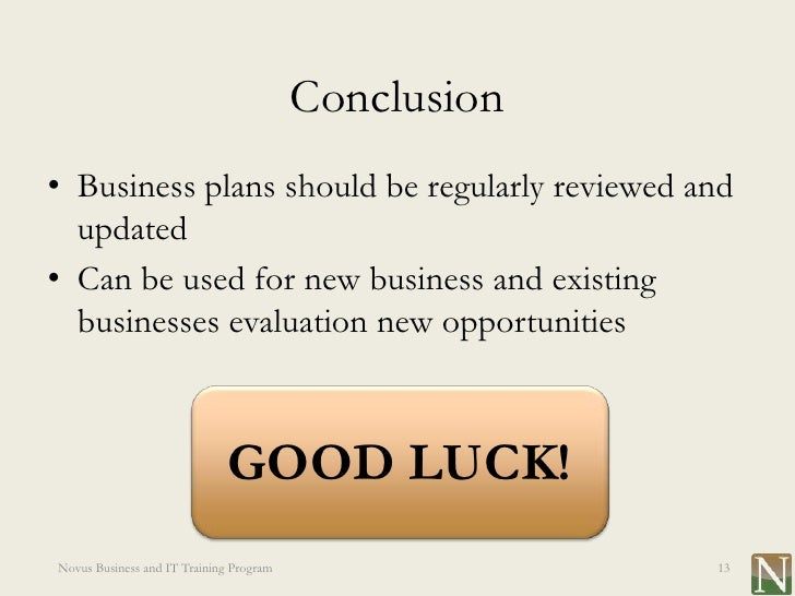 New business planning